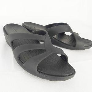 Crocs Sanrah sandals size 9 and 7 black